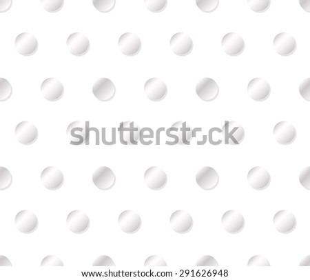 Abstract seamless pattern made from gradient circles - stock vector