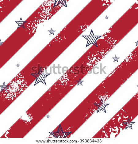 Abstract seamless pattern made from lines and hand drawn stars