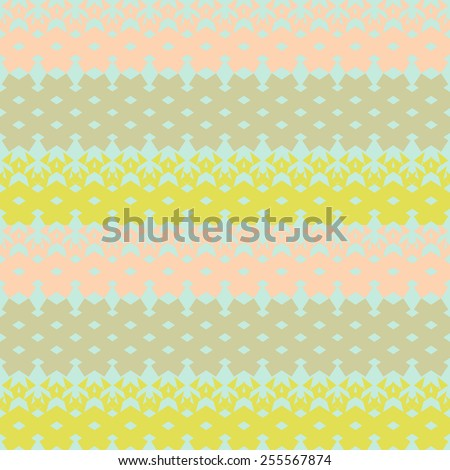 Abstract seamless pattern. Modern ethnic backdrop. Vector illustration. Soft background.Bright ornate wallpaper.Pink, gray,green,blue colors.