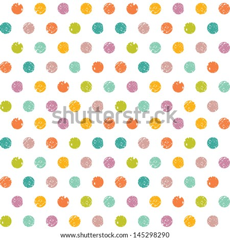 Abstract seamless pattern of colorful dots - stock vector
