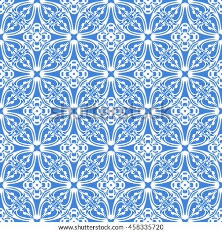 Abstract seamless pattern of royal blue color for wallpapers and background.