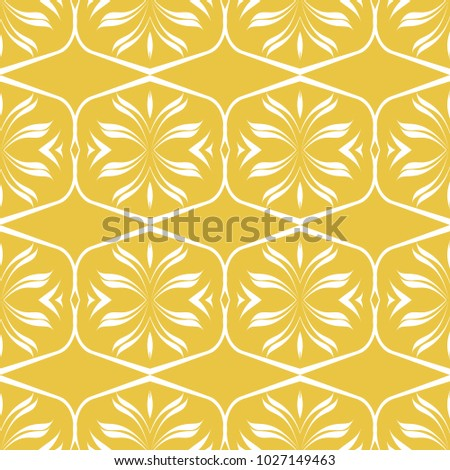 Abstract Seamless Pattern Of Yellow Color For Wallpapers And Background