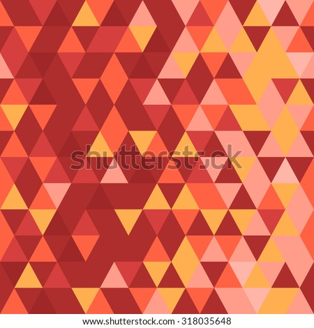 Abstract seamless pattern. Origami ornament. Geometric backdrop. Polygonal crystal texture. Triangular texture. Red abstract. - stock vector