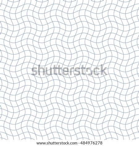 Abstract seamless pattern. Pattern in cells. Mesh of wavy, distorted lines pattern. Vector background.