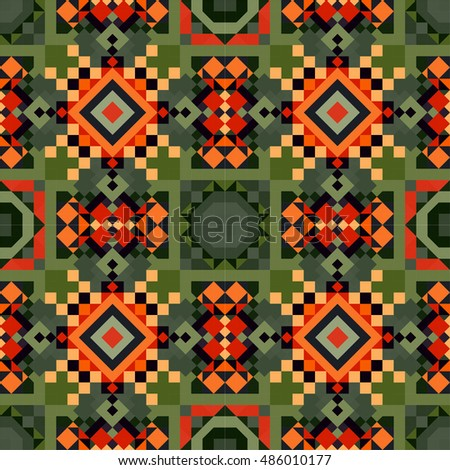 Abstract seamless pattern. Vector illustration. Geometric mosaic background