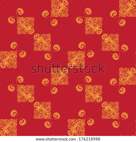 Abstract seamless pattern. Vintage background.