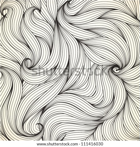 Abstract seamless pattern waves, EPS10 Vector background
