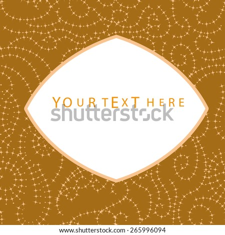 abstract seamless pattern with banner for your text - stock vector