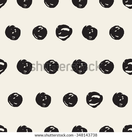 Abstract seamless pattern with brush strokes, design element. Dots texture. Can be used for invitations, greeting cards, scrapbooking, print, gift wrap, manufacturing. Grunge background - stock vector