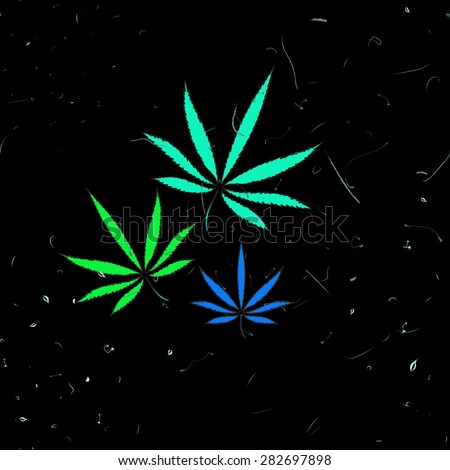 Abstract seamless pattern with cannabis leaves