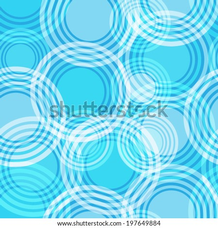 Abstract seamless pattern with circles - stock vector