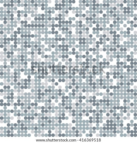 Abstract seamless pattern with circles.  Vector gray background. - stock vector