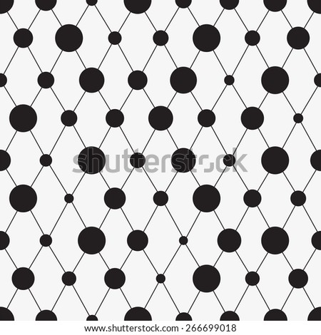Abstract seamless pattern with circles. Vector illustration Eps8 - stock vector