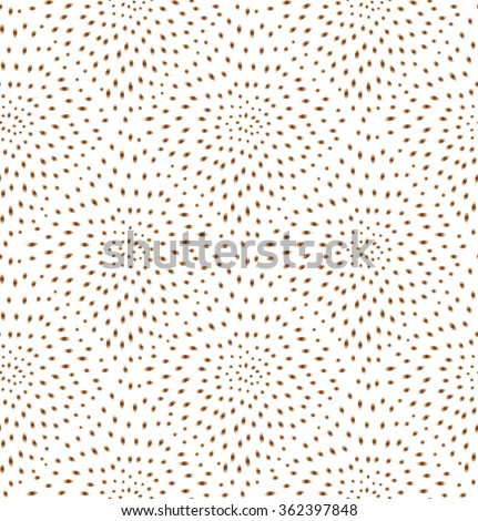 Abstract seamless pattern with circular ornament Swirl geometric oriental doodle texture. Engrave tiled mosaic background. - stock vector