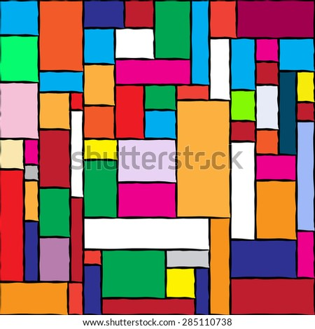 Abstract seamless pattern with colorful geometric vector abstraction - stock vector