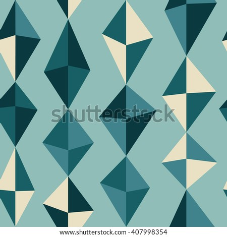 Abstract seamless pattern with colorful rhombus. Stylized simple texture for your design. Nice abstract background with geometrical figures.