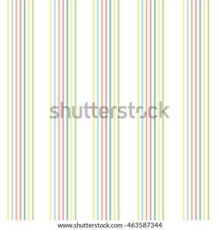 Abstract seamless pattern with colorful striped background. Pinstripe summer texture. Tender vector illustration.
