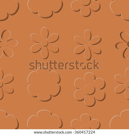 Abstract seamless pattern with flowers. Background for wallpaper, textile and postcard.