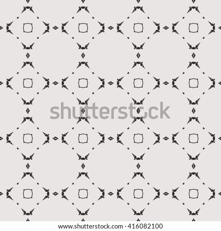 Abstract seamless pattern with geometric ornaments. Seamless background. - stock vector