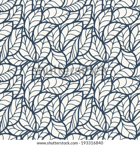 Abstract seamless pattern with  leaves. Vector illustration.  - stock vector