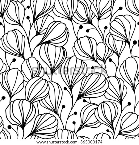 Abstract seamless pattern with leaves. Vector illustration, can be used as greeting card, textile, scrapbook, wallpaper, birthday and other holiday and cute background. - stock vector