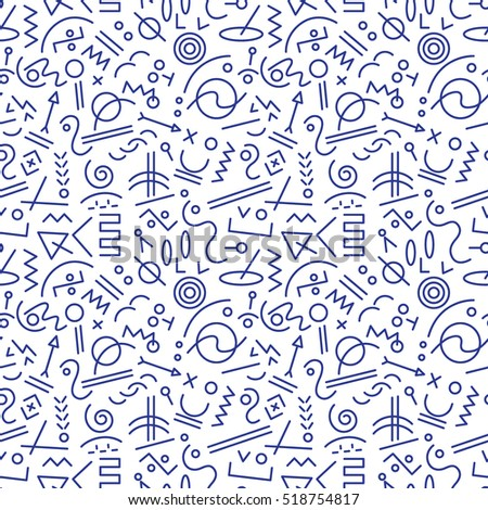 abstract seamless pattern with lines