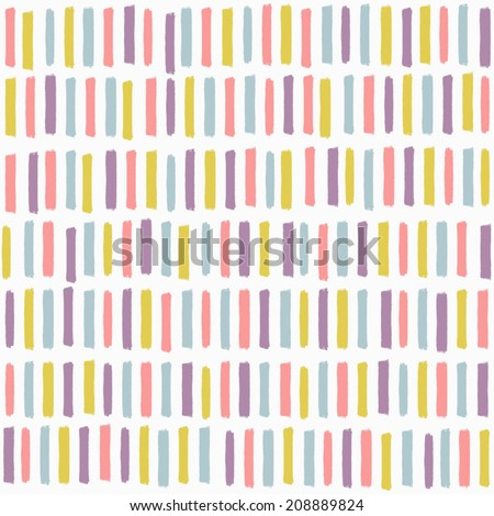 Abstract seamless pattern with multicolored lines. Simple textured background. Vector ornament - stock vector
