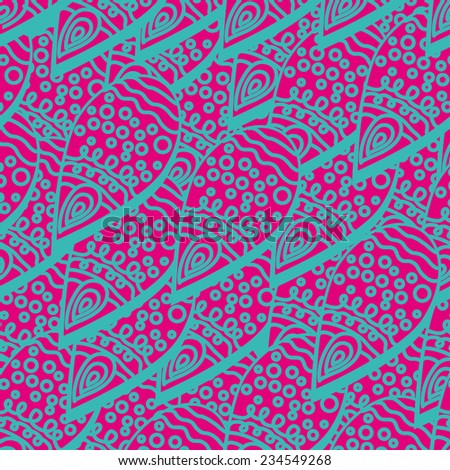 Abstract seamless pattern with petals - stock vector