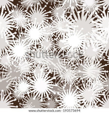 abstract seamless pattern with snowflakes. With clipping mask.