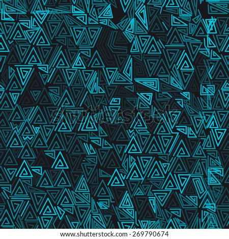 abstract seamless pattern with triangles. not clipping mask - stock vector