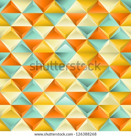 Abstract seamless patternwith triangles. EPS 8 vector illustration. - stock vector