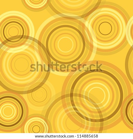 Abstract seamless retro background made of rings, vector illustration, eps10 - stock vector