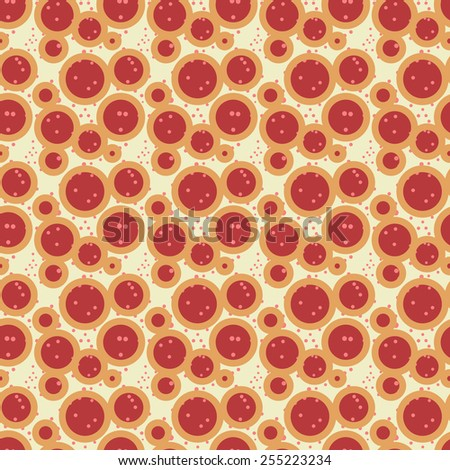 Abstract seamless retro pattern - stock vector