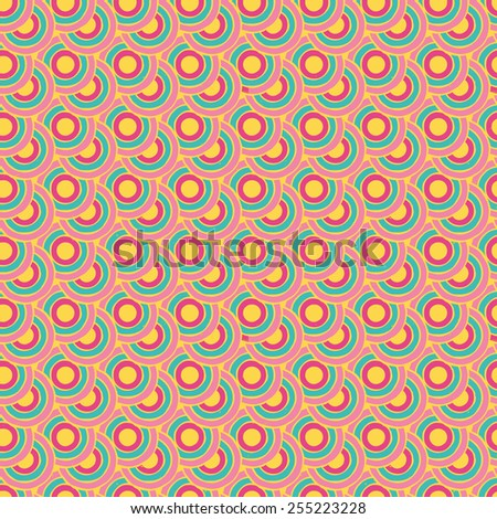 Abstract seamless retro pattern. Vector - stock vector
