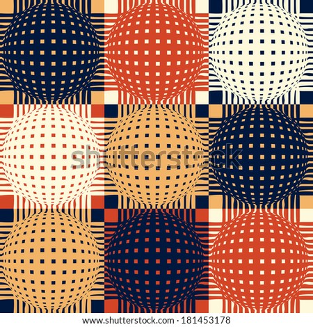 Abstract seamless retro pattern.Vector illustration.