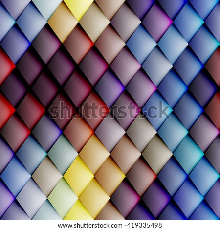 Abstract seamless rhombus pattern with a relief effect. - stock vector