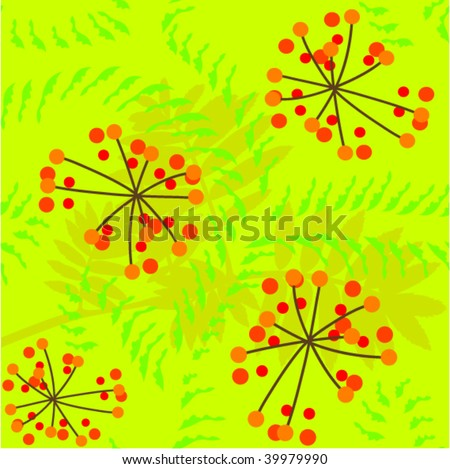 abstract seamless rowanberry pattern - stock vector