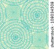 Abstract seamless summer swirl lace pattern. Circle texture on light retro background - stock photo