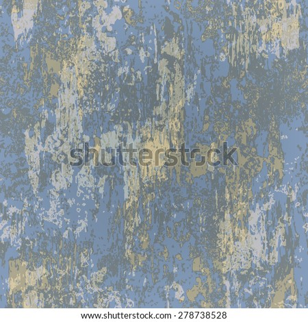 abstract seamless texture of blue rusted metal - stock vector