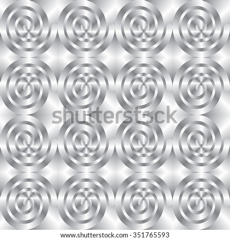 Abstract seamless texture with silver swirls