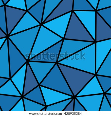 Abstract seamless triangle pattern. Light and dark blue triangle pattern for background or wallpaper. The triangle pattern for printing presentation or flyer. Thick lines on the triangle pattern.