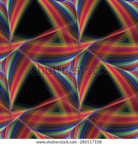 Abstract seamless triangular fantasy pattern design - stock vector