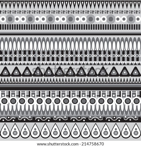 Abstract seamless  tribal ethnic background, vector