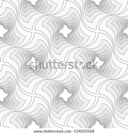 Abstract seamless vector black and white pattern with diagonal oriented lattice structure