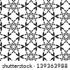 Abstract seamless vector black and white pattern with stylized snowflakes - stock photo