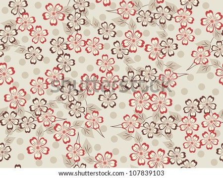 abstract seamless vector illustration with flowers