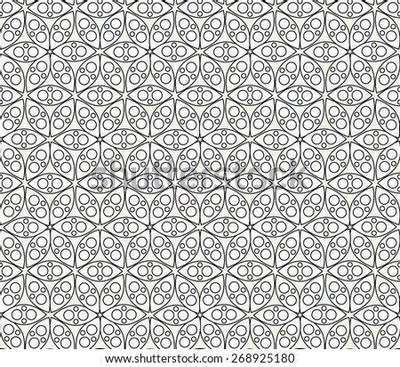 Abstract seamless vector texture with flower life pattern  - stock vector