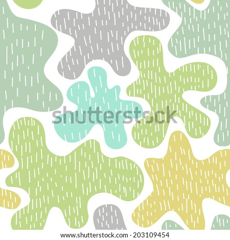 Abstract seamless vector texture with multicolored blobs  - stock vector