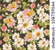 Abstract seamless vintage flower pattern. Romantic Elegance vector illustration. - stock vector