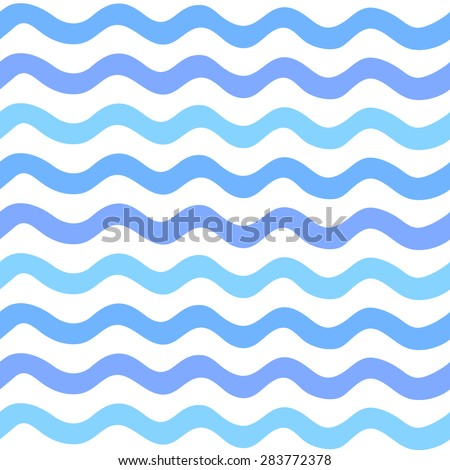 Abstract Seamless wave striped pattern, hand draw. Vector illustration - stock vector